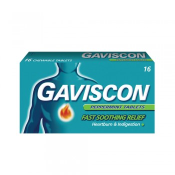 Gaviscon Peppermint Tablets 250mg x 16's