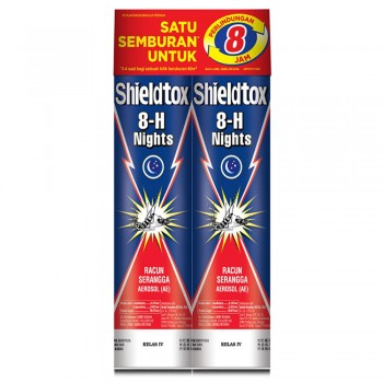 Shieldtox 8-H Nights Aerosol Twin Pack (525ml x 2)
