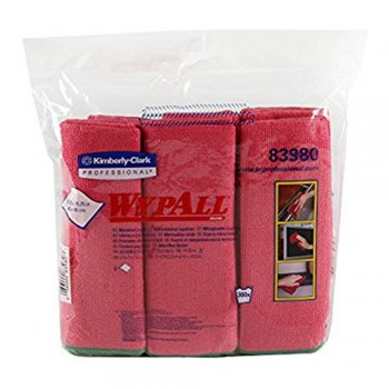 WYPALL Microfibre Cloths - Red x 6's/Pack