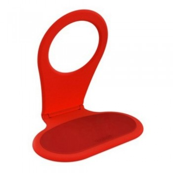 Bobino FOLDING PHONE HOLDER (Red) - Anti-slip Pad, Folding Hinge