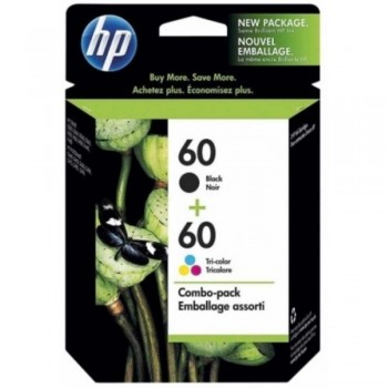 HP 60 Black and Tri-color Ink Cartridge Combo Pack (CN067AA)