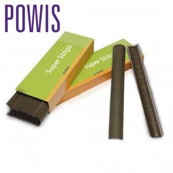 Powis FB20 Super-Strips A4 Narrow Dark Brown N443 For Fastback Binding Machines