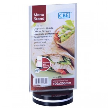CBE 100 x 200mm Menu Stand - 282 Flat - RotatingType