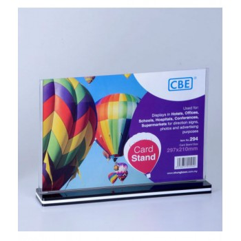 CBE A4 Card Stand - 294 Horizontal