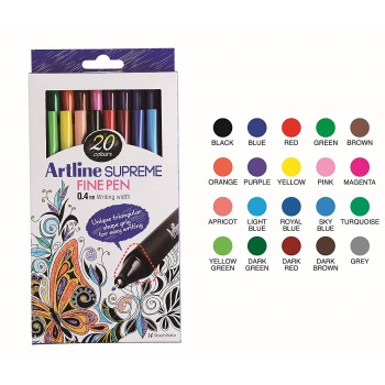 Artline SUPREME FINE PEN 0.4mm 20col EPFS-200/20W
