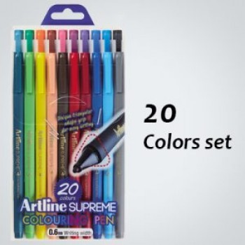 Artline SUPREME COLOURING PEN 0.6mm 20col EPFS-210/20W