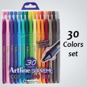 Artline SUPREME COLOURING PEN 0.6mm 30col EPFS-210/30W