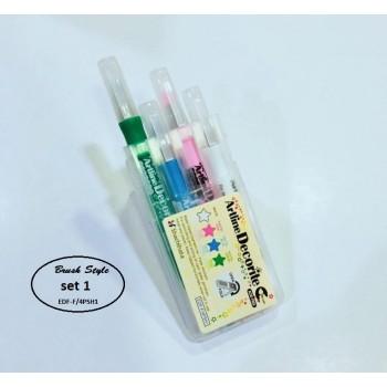 Artline Decorite Brush Marker Set EDF-F/4PSH