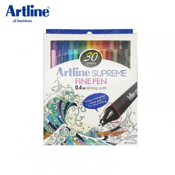 Artline SUPREME FINE PEN 0.4mm 30col EPFS-200/30W