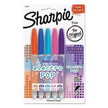 Sharpie® Electro Pop Fine Point Permanent Marker 5/Pack AP035710