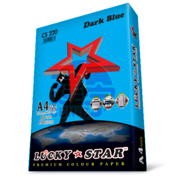Lucky Star CS220 Dark Blue A4size 450sheets 80gsm Premium Colour Paper