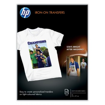 HP Iron-On Transfer Paper -C6065A- White Fabrics - A4 - 12 sheets per pack