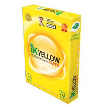 IK Yellow Paper 70gsm - F4 size - 450sheets