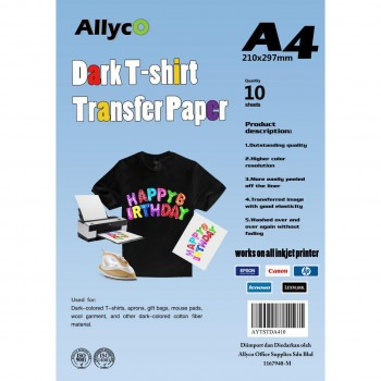 OEM Iron-On Transfer Paper - Dark T-Shirt - A4 - 10 sheets per pack