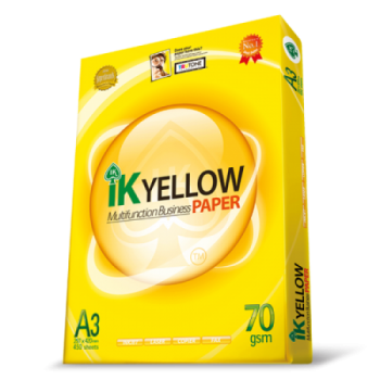 IK YELLOW Paper 70gsm - A3 size - 450sheets - 1ream