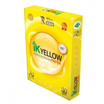 IK YELLOW Paper 80gsm - A3 size - 450sheets - 1ream