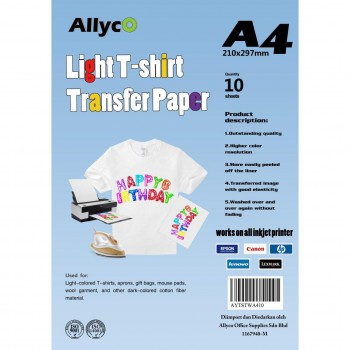 OEM Iron-On Transfer Paper - Light T-Shirt - A4 - 10 sheets per pack