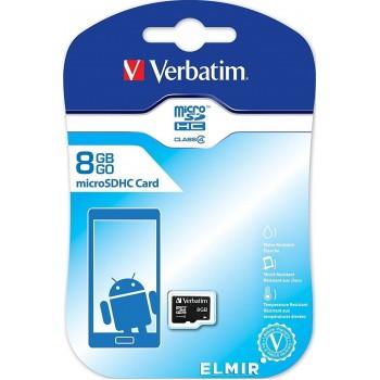 Verbatim Class4 microSDHC Card 8GB #44004 1508