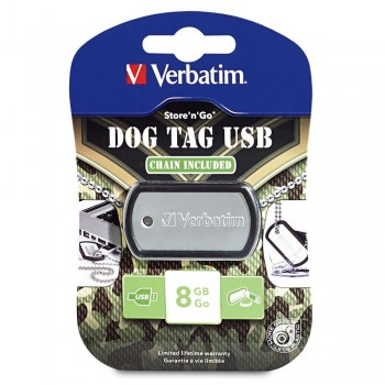 Verbatim Dog Tag USB Drive 8GB #98505 1401-806