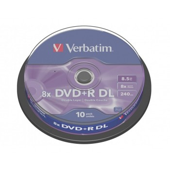 Verbatim DVD+R DL 8.5GB 8X 240min 10/pack #43666