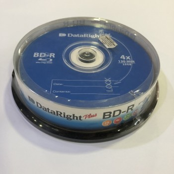 DataRight BD-R 25GB 4X Blu-ray Disc 10/pack 3273