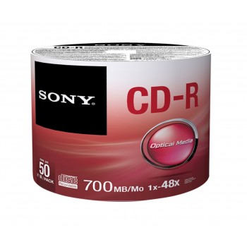 Sony CD-R 700MB/Mo 1x-48X Recordable Discs 50/pack 50CDQ80SB