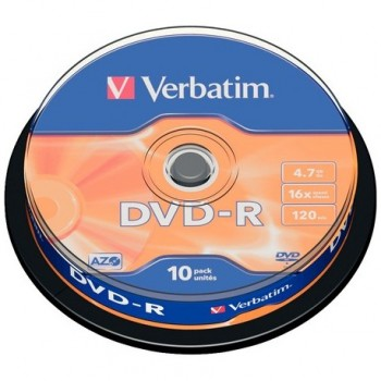 Verbatim DVD-R 4.7GB/GO 16X 10/pack #43523