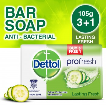 Dettol Body Soap Lasting Fresh 105g 3+1(free)