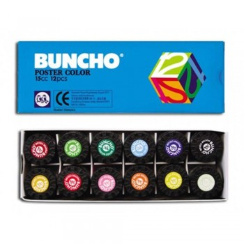 BUNCHO Poster Color - 15cc, 12 colors