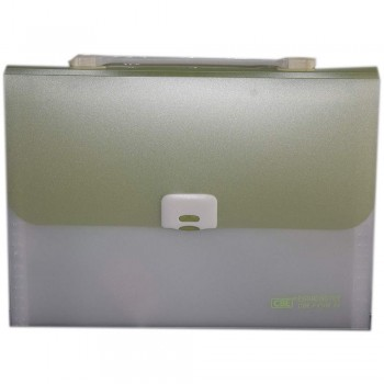 CBE 4308 13P Expanding File W/Handle (A4) Green (Item No: B10-122 GR)