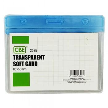 CBE 2585 Transparent Soft Card- Blue