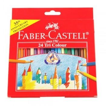 Faber Castell Tri-Grip Colour Pencil-24L (Item No: B05-10) A1R2B138