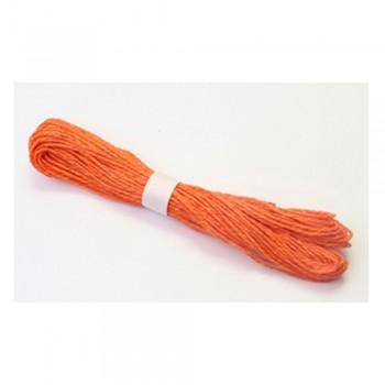 Colorful Paper Rope 25meters - Orange