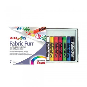 PENTEL ARTS FABRIC FUN PASTEL DYE STICKS 7 COLORS (PTS-7)