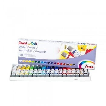 PENTEL ARTS WATER COLOURS 5ML 18 COLOURS (WFRS-18)