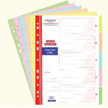 Finepap 5 Color Index Divider (FW1007)