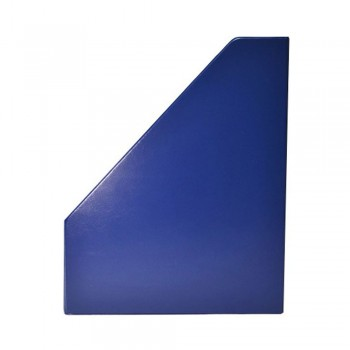 "4"" PVC Magazine Box File - Dark Blue"