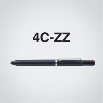 Zebra 4C-ZZ 4 Colour Ball-Point Pen Solid Black