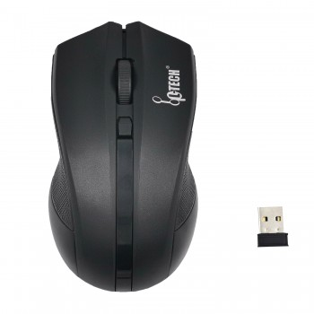 L-TECH Wireless Mouse Model 301 - BLACK - 2.4GHz Wireless, Operating Distance Up To 10m, 6-Key Optical Mouse 6D, 1600 DPI, Compact Ergonomic Design - WM-301BK BLACK
