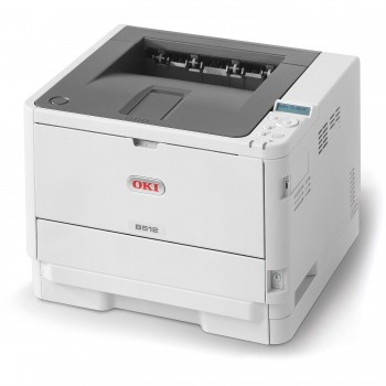 OKI B512dn Mono Printer B500 Series Duplex, Network LED Printer - 45762026