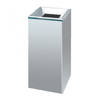 Stainless Steel Open Top Square Litter Dustbin - 005/SS